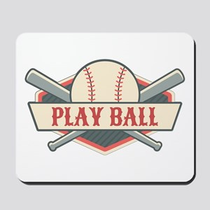 Play Ball Baseball Mousepad