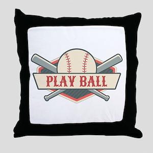 Play Ball Baseball Throw Pillow