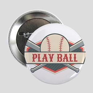 """Play Ball Baseball 2.25"""" Button"""