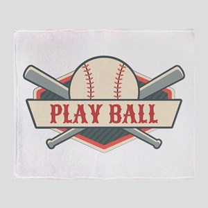 Play Ball Baseball Throw Blanket
