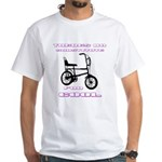 Chopper Bicycle White T-Shirt
