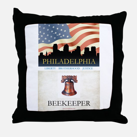 Philadelphia Beekeeper Throw Pillow