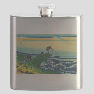 Vintage Japanese Art - Man Fishing Flask