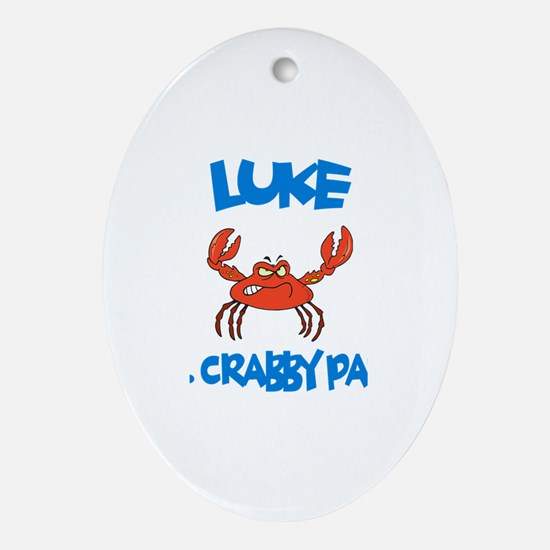 Luke - Mr. Crabby Pants Oval Ornament