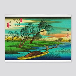 Seba - Ohta River Japan Art 5'x7'Area Rug