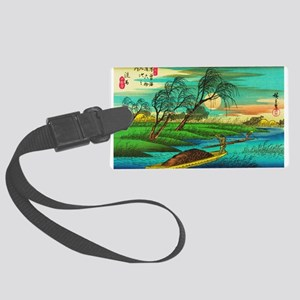 Seba - Ohta River Japan Art Luggage Tag