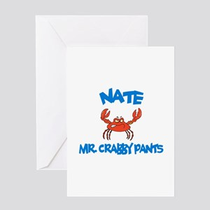 Nate - Mr. Crabby Pants Greeting Card