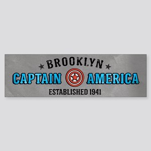 Captain America Brooklyn Sticker (Bumper)