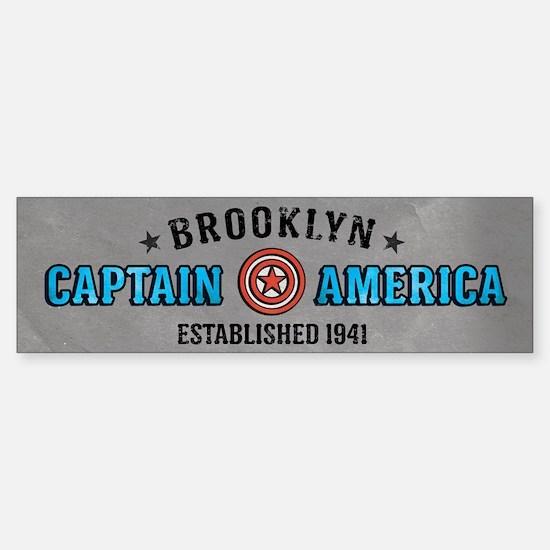 Captain America Brooklyn Sticker (Bumper)