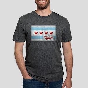 Vintage Chicago Flag Design T-Shirt