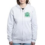 Green Logo Zip Hoodie