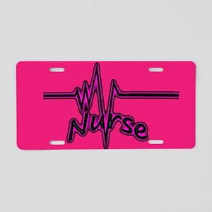 Nurse Heartbeat Aluminum License Plate