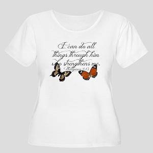 Phillipians 4:13 Plus Size T-Shirt