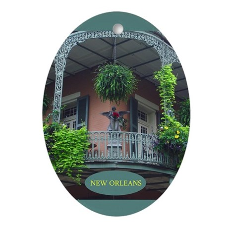 New Oleans Balcony Oval Ornament