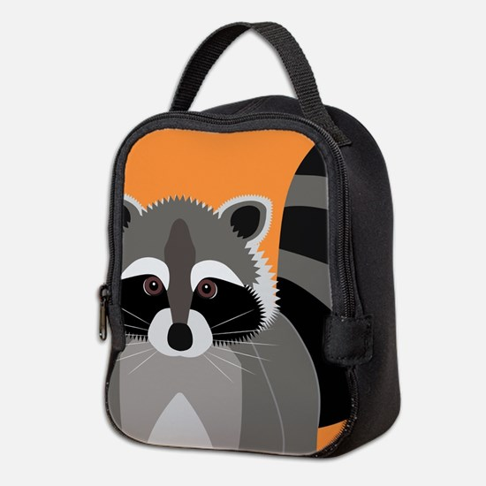 Raccoon Mischief Neoprene Lunch Bag