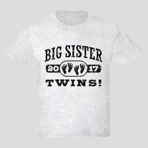 Big Sister Twins 2017 Kids Light T-Shirt