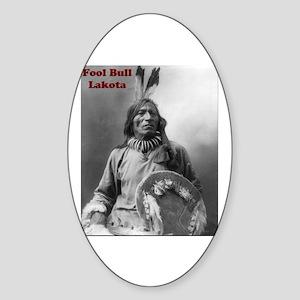 Fool Bull - Lakota Oval Sticker