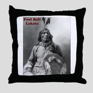 Fool Bull - Lakota Throw Pillow