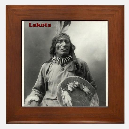 Fool Bull - Lakota Framed Tile