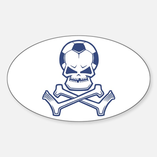 Soccer Pirate Oval Decal
