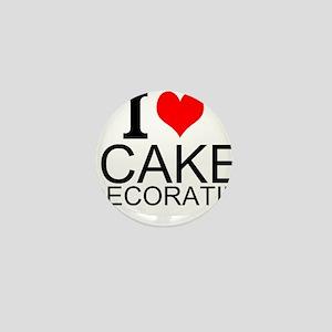 I Love Cake Decorating Mini Button