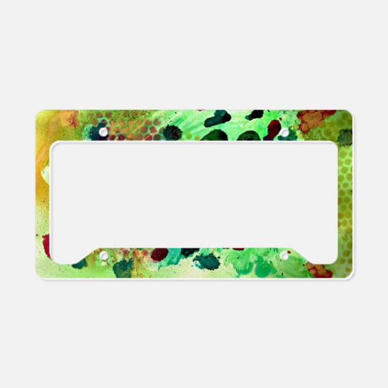 Mixed media License Plate Holder