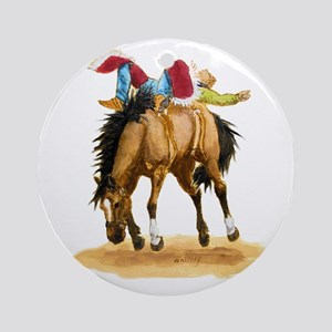 Bare Back Bronc Bay Ornament (Round)
