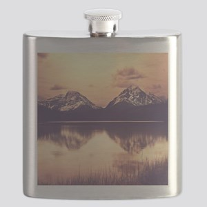 Canadian Mountains Flask