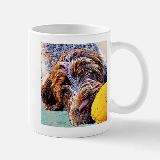 Griffon with an Orange Mug