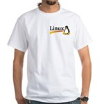 White T-Shirt Montana Linux Groups