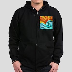 Sun and Sea Zip Hoodie (dark)