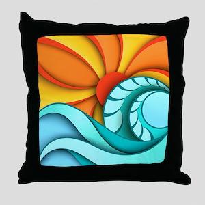 Sun and Sea Throw Pillow