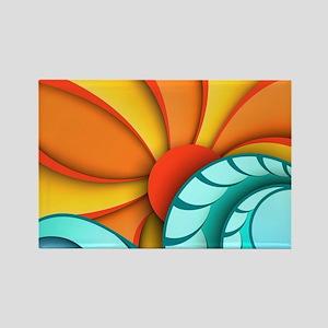 Sun and Sea Rectangle Magnet
