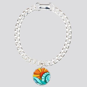 Sun and Sea Charm Bracelet, One Charm