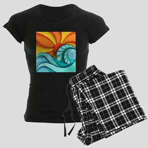 Sun and Sea Women's Dark Pajamas