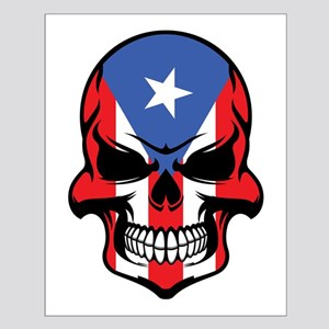 Puerto Rican Flag Skull Posters