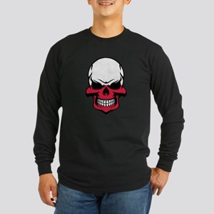 Polish Flag Skull Long Sleeve T-Shirt