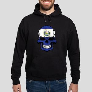 El Salvadorian Flag Skull Hoodie