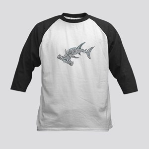 Tribal Hammerhead Shark Baseball Jersey