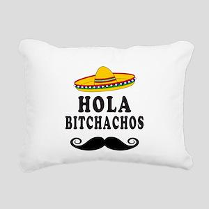 Hola Bitchachos Rectangular Canvas Pillow
