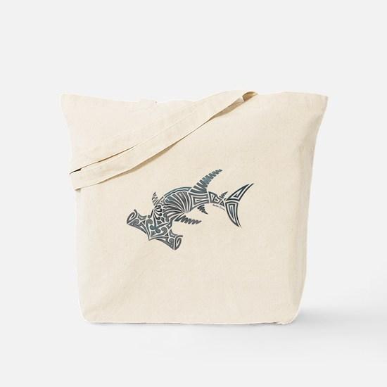 Tribal Hammerhead Shark Tote Bag