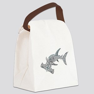 Tribal Hammerhead Shark Canvas Lunch Bag