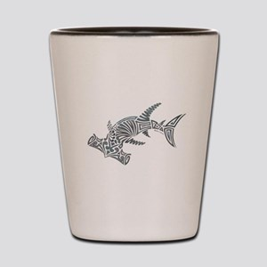 Tribal Hammerhead Shark Shot Glass