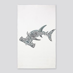 Tribal Hammerhead Shark Area Rug