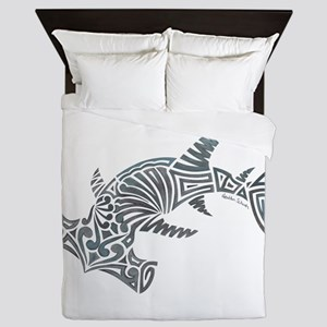 Tribal Hammerhead Shark Queen Duvet