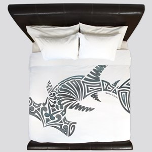 Tribal Hammerhead Shark King Duvet