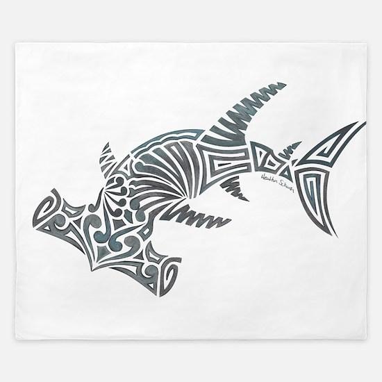 Tribal Hammerhead Shark King Duvet