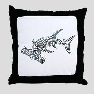 d5cd4ce7dc32 Tribal Hammerhead Shark Throw Pillow