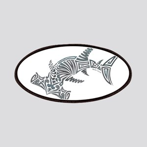 Tribal Hammerhead Shark Patch