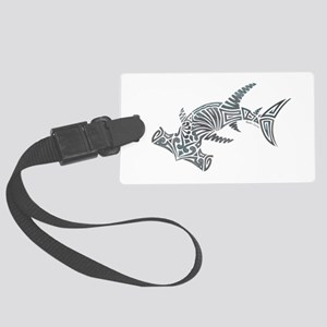 Tribal Hammerhead Shark Large Luggage Tag
